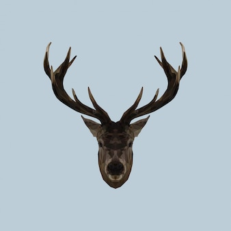 Cerf low poly