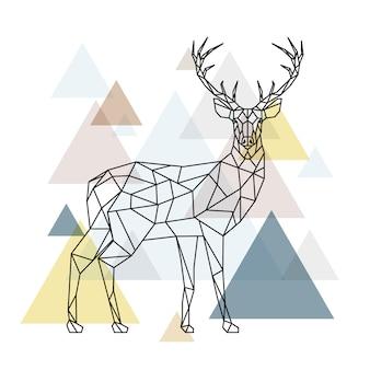 Cerf polygonale abstraite.