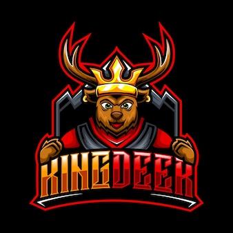 Cerf roi, logo de la mascotte