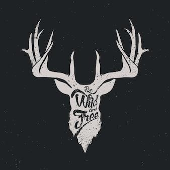 Cerf sauvage et inverti libre