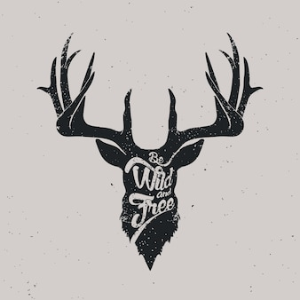 Cerf sauvage et libre