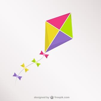Cerf-volant coloré vecteur libre