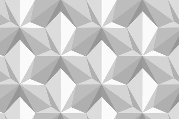 Cerf-volant motif géométrique 3d vecteur fond gris dans un style abstrait