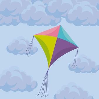 Cerf-volant volant dans le ciel