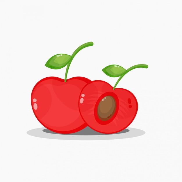 Cerise et cerry tranché