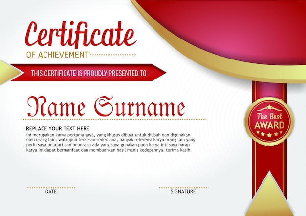 Certificat d'accomplissement - 1