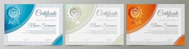 Certificat d'adhésion meilleur ensemble de diplôme de récompense.