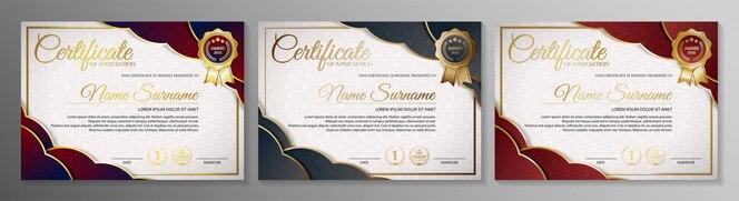 Certificat d'adhésion meilleur ensemble de modèles de diplôme de récompense.