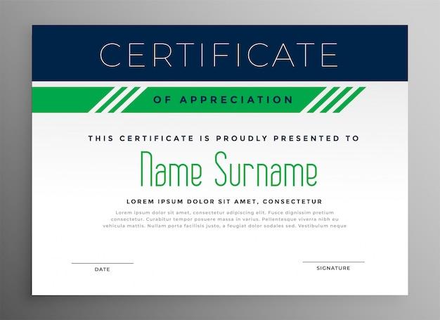 Certificat d'appréciation d'entreprise