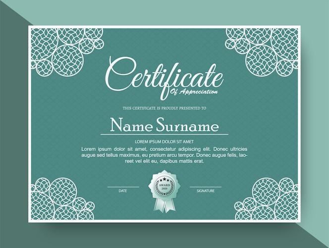 Certificat d'appréciation meilleur diplôme