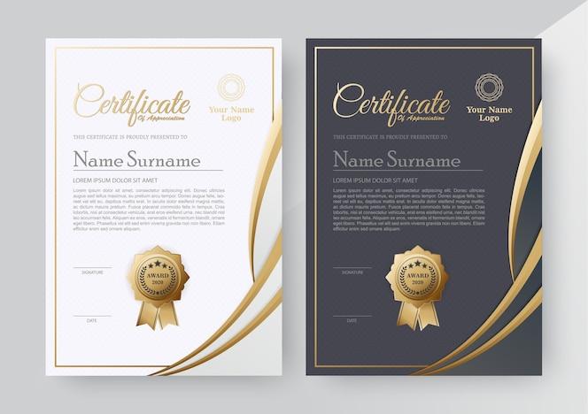 Certificat d'appréciation meilleur ensemble de diplôme