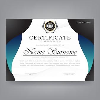 Certificat d'appréciation modèle moderne