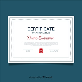 Certificat d'appréciation ornemental