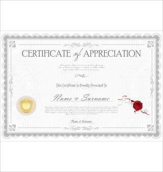 Certificat d'appréciation