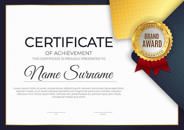 Certificat, arrière-plan du modèle de diplôme. eps10