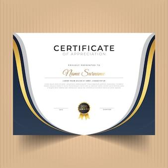 Certificat au design moderne