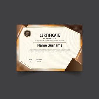 Certificat brun