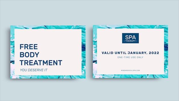 Certificat-cadeau de séances de bien-être minimalistes abstraites