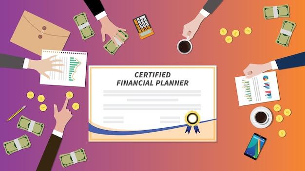 Certificat de certification de planificateur financier certifié