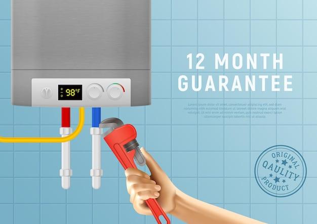 Certificat de chauffe-eau domestique réaliste
