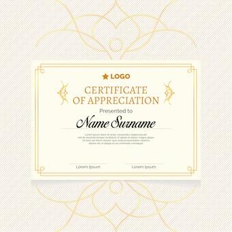 Certificat classique élégant