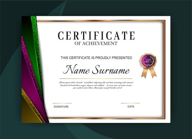 Certificat de conception de modèle de réussite
