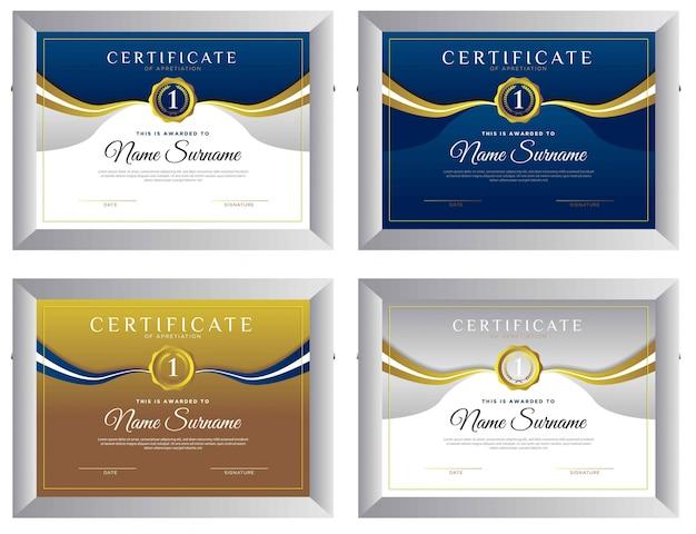 Certificat conçoit simple élégant et moderne de récompense