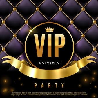 Certificat de coupon d'invitation de luxe avec lettres dorées
