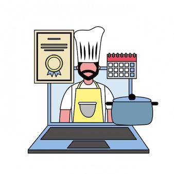 Certificat de cuisine pour ordinateur portable chef en ligne