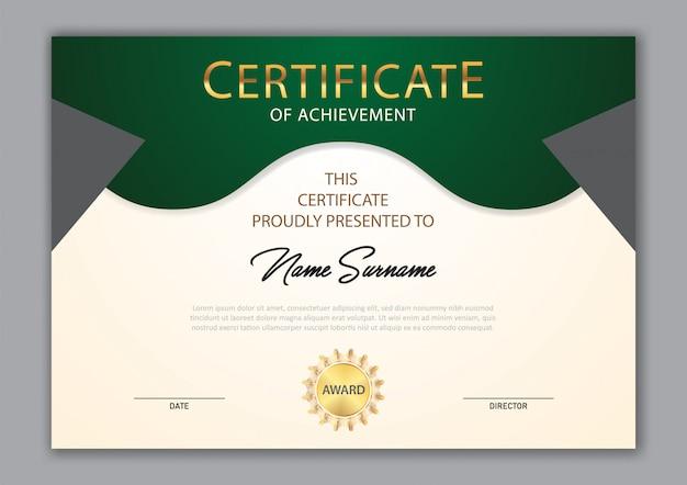 Certificat de design de luxe modèle avec élément de texte, diplôme
