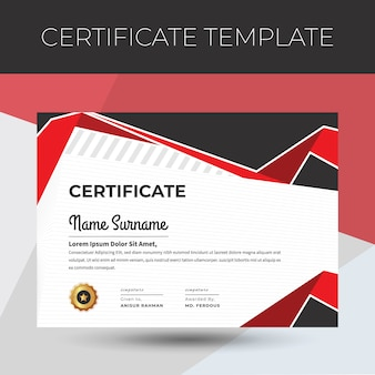 Certificat ou diplôme retro vintage