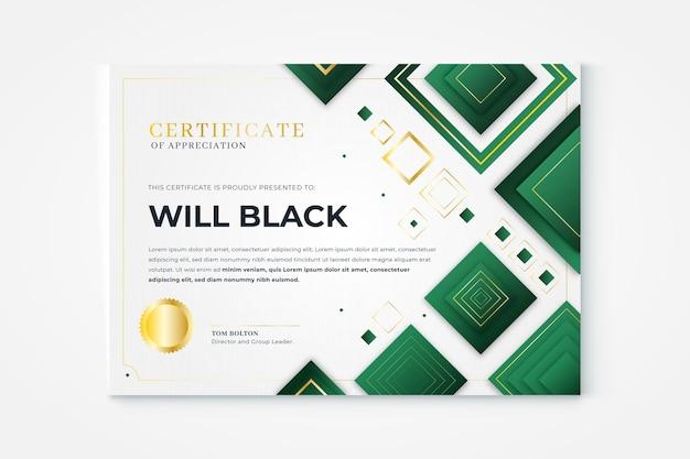 Certificat élégant dégradé