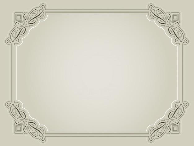 Certificat de fond dans les tons sépia