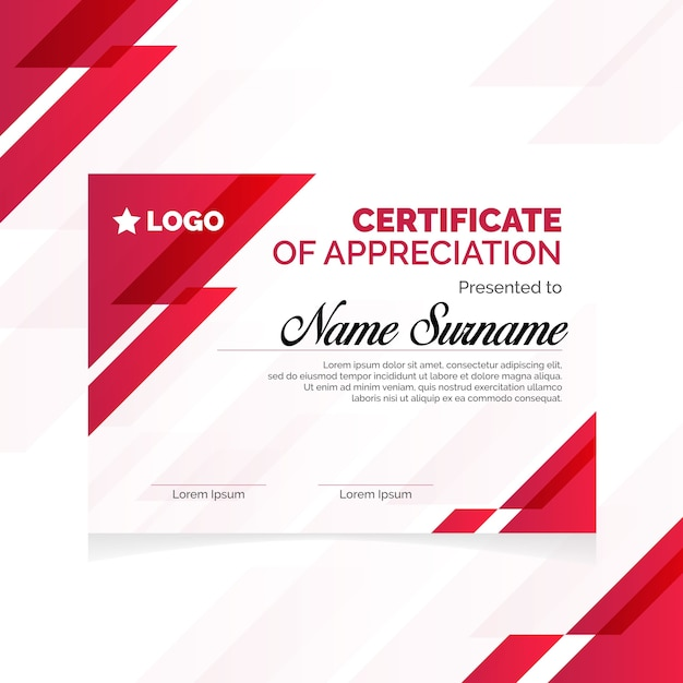 Certificat geometri élégant
