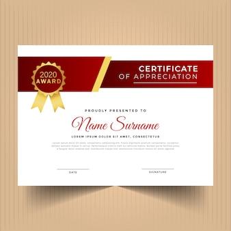 Certificat de géométrie moderne de conception de modèle de réussite