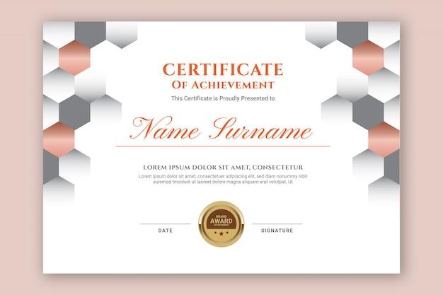 Certificat hexagonal