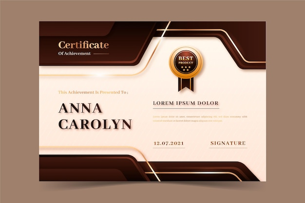 Certificat de luxe réaliste