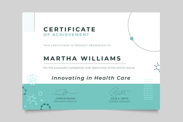 Certificat médical minimaliste abstrait