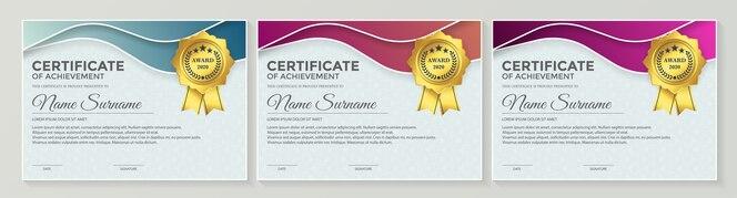 Certificat de membre meilleur ensemble de diplômes.