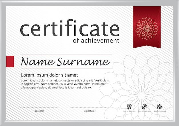 Certificat de modèle de récompense d'appréciation.