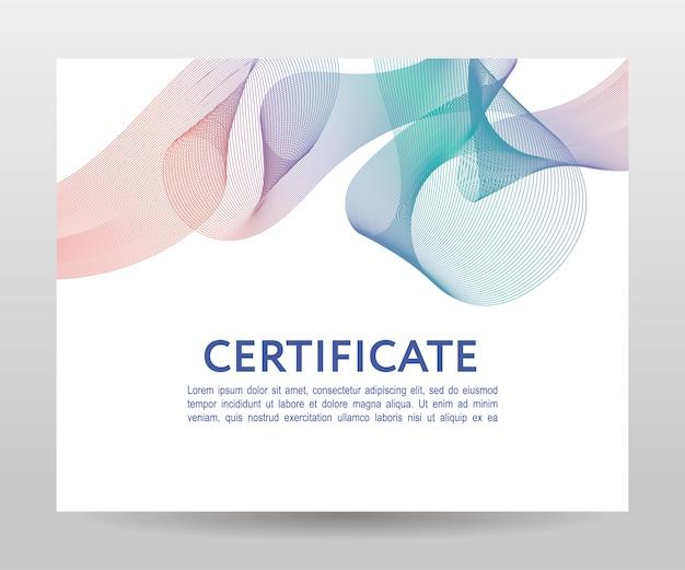Certificat. modèles de diplômes, monnaie. cadre dégradé