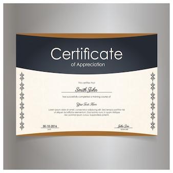 Certificat moderne d'appréciation