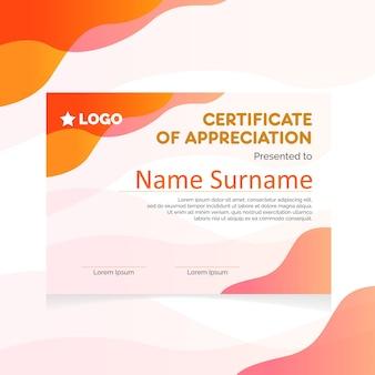Certificat moderne décontracté