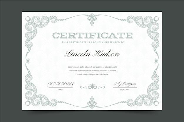 Certificat ornemental de gravure