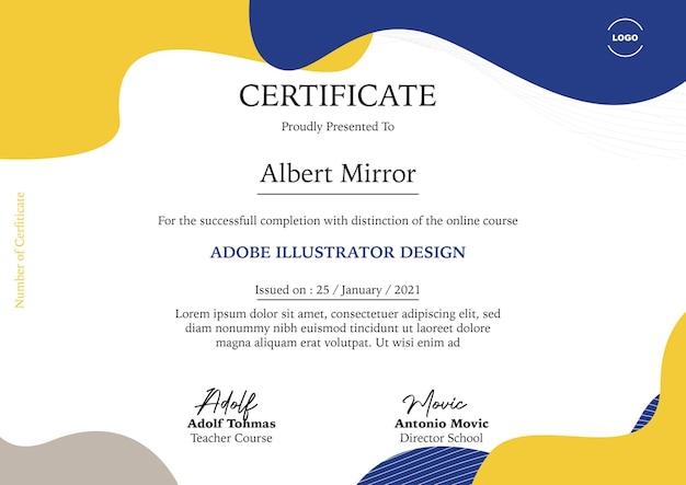 Certificat pour cours en ligne