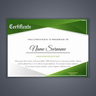 Certificat pour le modèle de réussite