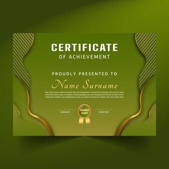 Certificat premium abstrait et diplôme de réussite
