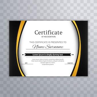 Certificat premium modèle modèle de diplôme