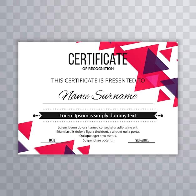Certificat premium modèle récompenses diplôme illustration vectorielle coloré