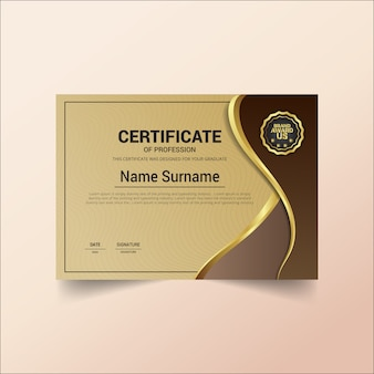 Certificat de profession